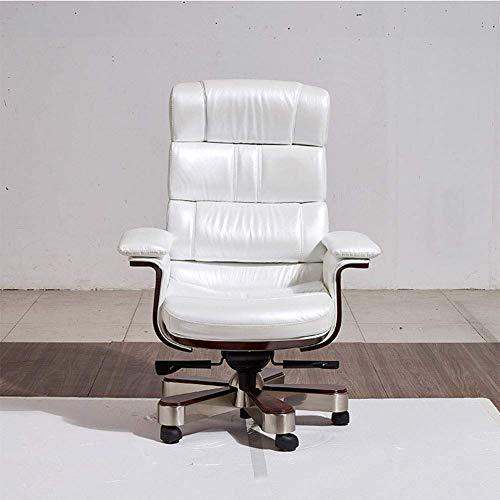 OH Chefsessel, Chefsessel Leder Computerstuhl Heimbürostuhl Drehstuhl mit hoher Rückenlehne Präsidentensessel 360-Grad-Drehstuhl mit Armlehnenhebel Bedienerstühle für Heim und Büro