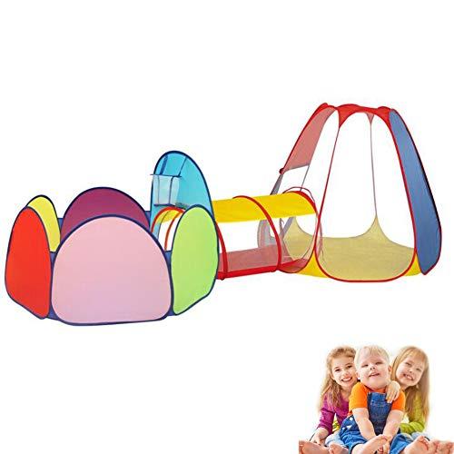 DFGHJKNN Kinder Spielen Zelt Und Tunnel-Set,Klappbarer Kriechtunnel Für Kleinkinder,Kinder-Krabbelhaus Für Drinnen Und Draußen (Ohne Ball),c
