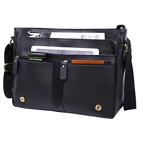 Leathario Sac Business Porte épaule en Cuir Sac Messenger Porte-Documents Besace à épaule...