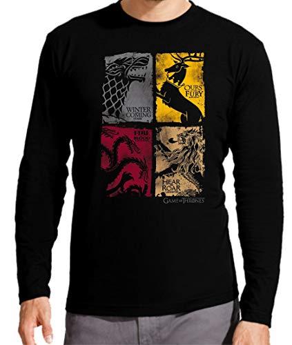 Camiseta Manga Larga de Hombre Juego de Tronos Tyrion Snow Dragon Daenerys Stark 064 L