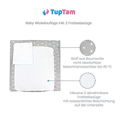 TupTam Colchón para Cambiador con 2 Fundas Der Rizo, Bebé, Bosque/Beige, 70 x 50 cm