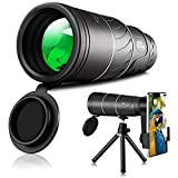 Monocular-Telescope-Cosmic-Scope-Monocular High Power Waterproof Monocular for Adults Night Vision and Day 16X52 Star Scope Monocular Smartphone Long Range for Birds Watching Wildlife Hunting Hiking