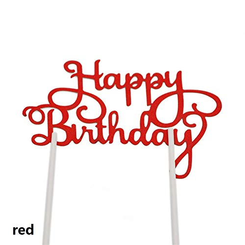 WZRQQ Cake Topper Happy Birthday Cake Sign Kids Happy Birthday Party Baking Decoration DIY Cake Decoration