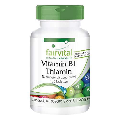 Vitamin B1 100mg - Thiamin - HOCHDOSIERT - VEGAN - 100 Tabletten