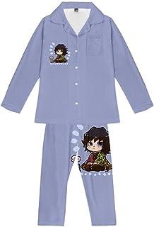 Pyjama Sets Anime Demon Slayer Teens Gift Loungewear Soft Comfortable Pajamas Top & Bottoms 2 Piece
