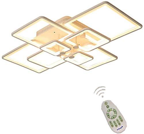 wangYUEQ Lámpara de Techo Regulable LED Lámpara de Sala de Estar Moderna en óptica de Anillo, 68W Interior Blanco Techo de Techo de Aluminio araña Decorativa para Dormitorio Estudio Estudio