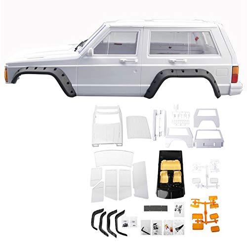 FairOnly - Soporte de Rueda de plástico Duro para carrocería Cherokee Auto Shell 1/10 RC Crawler Axial SCX10 & SCX10 II 90046 90047 para Kit TRX4