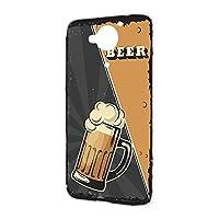ハードケース スマホケース AQUOS Xx 404SH 用 BEER ビール・ブラック ビンテージ アメリカン レトロ USA SHARP シャープ アクオス ダブルエックス ymobile ワイモバイル スマホカバー 携帯ケース けーたいカバー beer_00z_h191@01