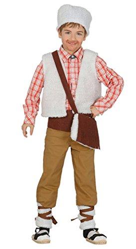 Guirca- Disfraz infantil de pastor, Color beige, 7-9 años (42699.0)