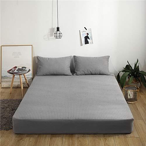 WFSCL katoenen badstof waterdicht bed, katoen quilt matras Simmons dekbedovertrek matrasovertrek + waterdichte kussensloop 48 x 74 cm x 2