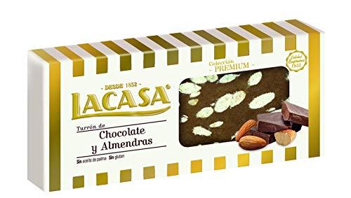 LaCasa - Turron Chocolate con almendra, 250 g