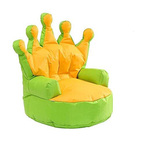 ZLININ Living room chair Cojines, lindo de Estilo Moderno Niños Corona sofá perezoso, solo japonesa sin señal del sofá por un relajante juego Lounging