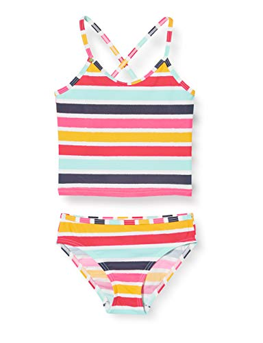 ESPRIT Mädchen Treasure Beach MG Tankini+Mini Bikini-Set, Gelb (730 Sunflower Yellow), 116/122