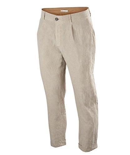 Falke Golfbroek voor heren, linnen/zijde, 1 stuks, versch. kleuren, maat 46-56 - vochtregulerend, snel drogen van de rug.
