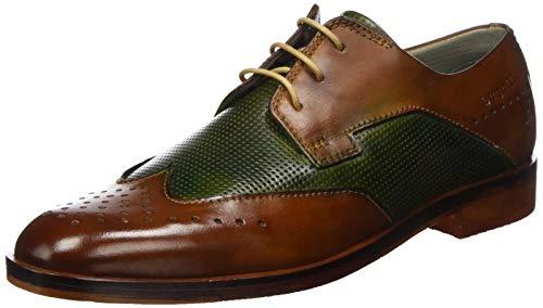 bugatti Herren 311891011111 Derbys, Braun (Cognac/Dark Green 6371), 44 EU