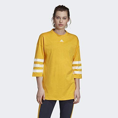 adidas Damen Sport ID Jersey Top M Active Gold/Active Gold - 2
