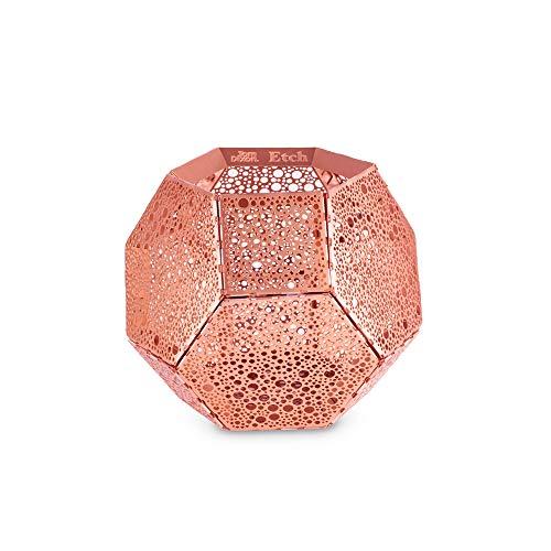Tom Dixon Etch Kupfer Teelichthalter Halter für Teelichter - schön geätztes Kupfer-Design - Elegante Raumdekoration - Weiches, Ambient Glow Kupfer