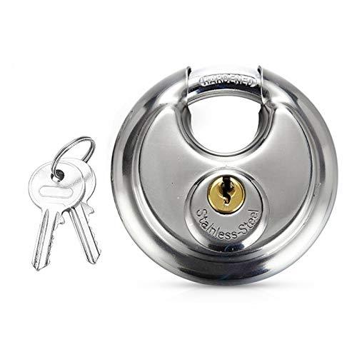 Hwtcjx candado exterior, 1 pieza candado taquilla, candado seguridad 70mm, con grillete de acero inoxidable, cilindro de cerradura de cobre, para exteriores, caja de herramientas, puerta (plateado)