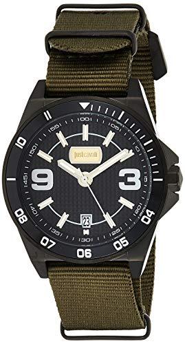 Just Cavalli Reloj Analogico para Hombre de Cuarzo con Correa en Tela JC1G014L0045