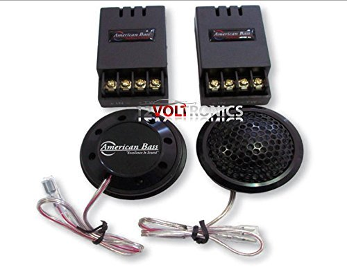 """AMERICAN BASS SYMPHONY2.5 Tweeter 1 1/4"""" 160W 3 Way Surface Angle OR Flush Mount Silk Dome & Passive XOVER"""