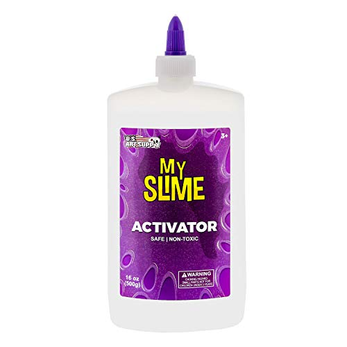 My Slime Activator Solution 16 Ounce Bottle - Make Your Own Slime, Just Add Glue - Kid Safe, Non-Toxic - Replaces Borax, Baking Soda, Contact Lens Solution - Activating Making PVA School Glue Slime