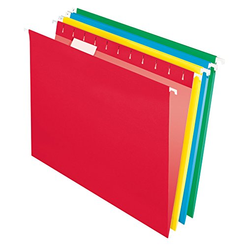 Pendaflex Essentials Hanging Folders, Letter Size, Assorted Colors, 25 per Box (75708)