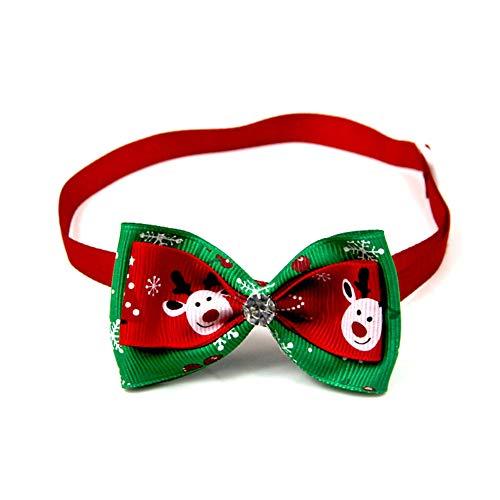 Scrox 1x Navidad Decoracion Mascotas Collar Perro Adornos Arco Perros Accesorios Abrigos Lindo Pajarita Gato...