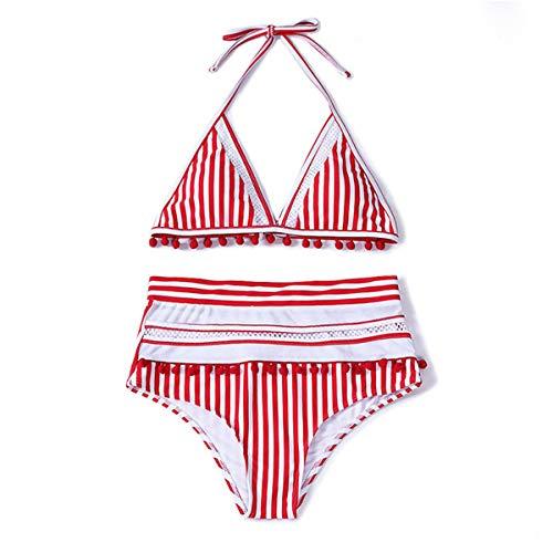 MILANKERR Womens 2 Pieces Swimsuits Bikini Set Triangle Cup Paded Swimwear High Waist Cheeky Bottom Bathing Suits