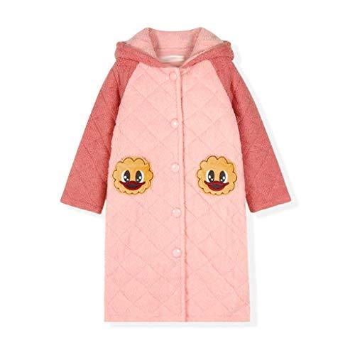 KAYBELE Geiwokai Kids Flannel Bathroboga Ducha Girl Coral Fleece Pajamas Ropa de Dormir Bebé Invierno con Capucha Toalla Robas Pijamas Caliente Campo (Size : 165cm)
