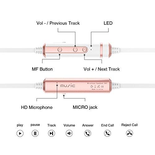 Picun Bluetooth Kopfhörer kabellos IPX4 Bild 5*
