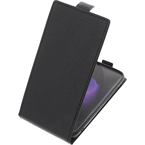 foto-kontor Tasche für HomTom HT50 Smartphone Flipstyle Schutz Hülle schwarz
