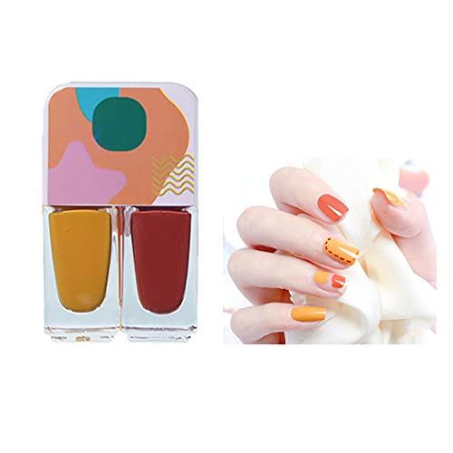 Esmalte semipermanente 2 en 1, kit de esmalte de uñas, esmalte de color pastel, esmalte semipermanente con...