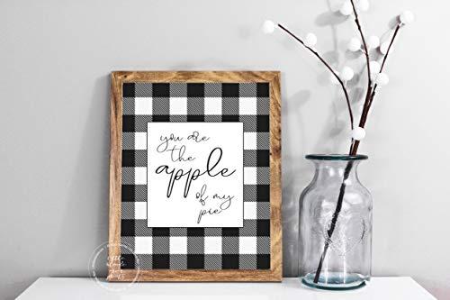 Rummy Apple of My Pie Buffalo Check Fall Decor Print Fall Decor Druck Fall Kürbis Decor Printable Art Herbst Home Decor Print Fall Apfel Decor