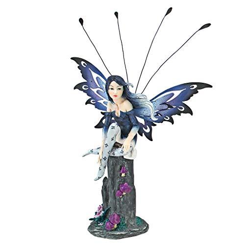 Design Toscano QS232737 Statua di Fata Pepperwand, 7.5x20.5x23 cm