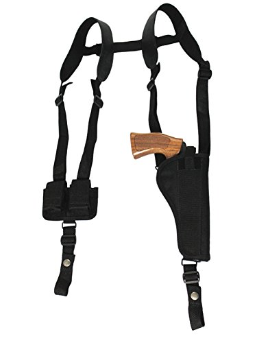 Barsony New Vertical Shoulder Holster w/Speed-Loader Pouch for S&W N 57 625 627 629 M&PR8 Left