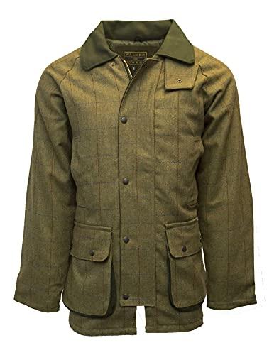 Walker and Hawkes - Chaqueta de Tweed para Hombre - Abrigo Inspirado en la hípica y la Caza - Verde Bosque - M