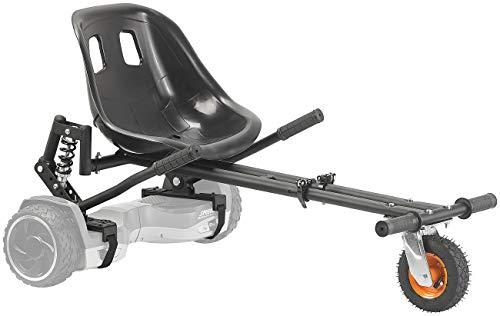 """Speeron Hoverboard Kart: Nachrüst-Kart-Sitz mit Federung für Elektro-Scooter (10\""""), bis 120 kg (Hoverseat)"""