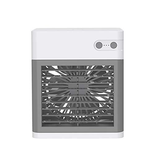 Lomelomme Climatizador portátil, aire acondicionado portátil, mini aire acondicionado personal, recargable por USB, humidificador, ventilador para casa, habitación, oficina Blanco Talla única