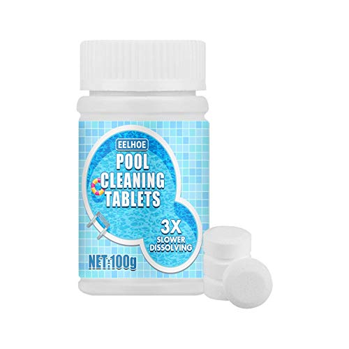 Swimming Pool Cleaning Tablet Chlorine Tablets for Swimming Pool Quality Magic Cleaning Tool Multifunction Chlorine Tablets for Swimming Pool, Spa, Bathtubs 100g