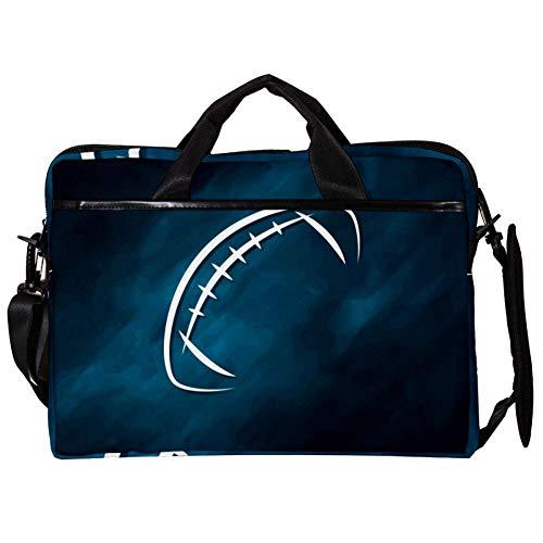 TIZORAX Laptop Messenger Schultertaschen American Football Pattern Computer Schutzhülle Notebook-Tragetasche 15-15,4 Zoll Handtasche