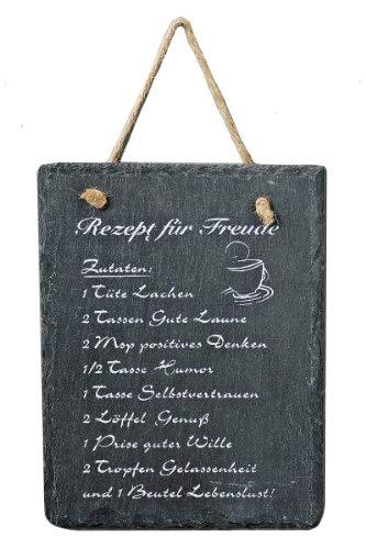 Hänger Schild Rezept, Dekoschild, Spruchschild, mit aufgedruckem Rezept, Maße 15 x 20 cm
