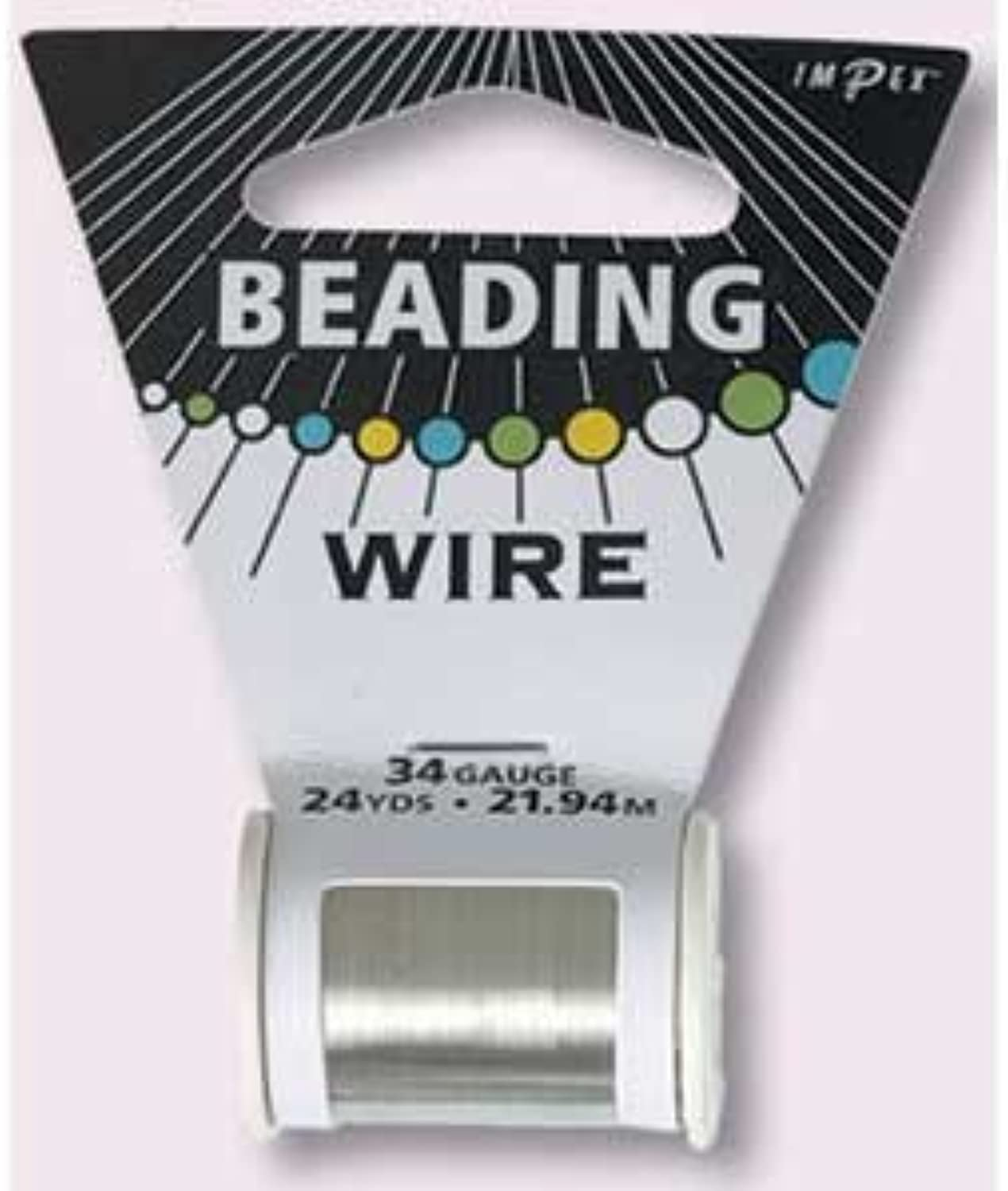Beading Wire, 34 Gauge - Silver by Impex