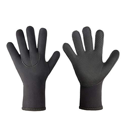 1 par de 3 mm de neopreno guantes de neopreno elásticos guantes de buceo para hombres mujeres surf kayak buceo natación deportes acuáticos
