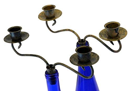 Southern Homewares Kerzenständer für Weinflaschen, Kandelaber, 2 Stück, Mehrfarbig