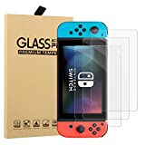[3 Pack] A-MIND for Nintendo Switch Screen Protector,Anti-Scratch 9H Hardness Clear 0.3mm Thickness Tempered Glass for Nintendo Switch,with Free Tool Set