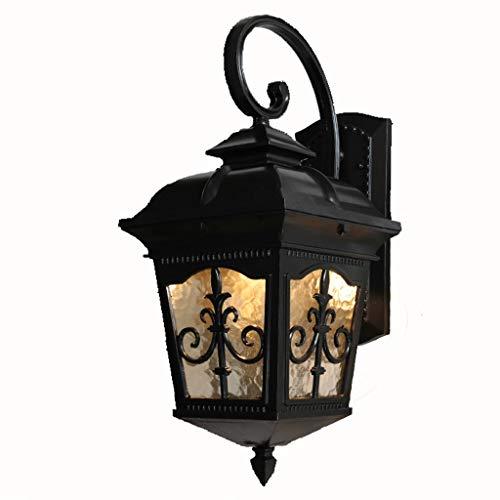 B-D wandlamp, Europese stijl, voor buiten, waterdicht, voor tuin, terras, balkon, buiten, hal, terras, licht (kleur: A, maat: groot), groot