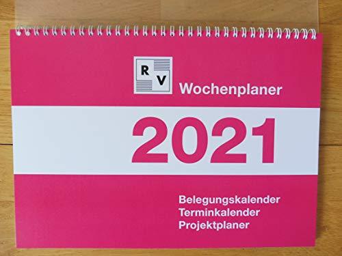 Wochenplaner 2021 DIN A4, Schafberger Verlag, Belegungskalender, Terminkalender, Projektplaner