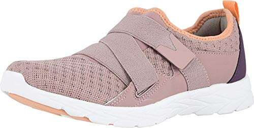 Vionic Women's Brisk Aimmy Walking Shoes - Ladies Athleisure Shoe with Concealed Orthotic Arch Support Blush 8.5 Medium US
