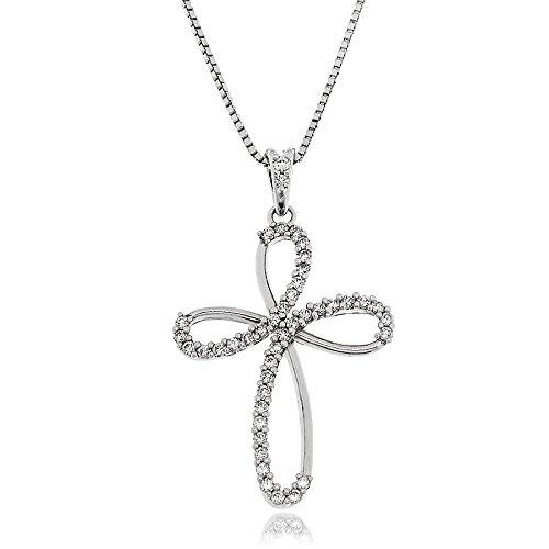 Gioiello Italiano - Zilveren ketting met kruis hanger