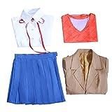 Nobrand Doki Doki Literature Club Disfraz de Cosplay, Juego DDLC Monika Disfraz de Cosplay Uniformes Escolares Trajes Conjuntos para Mujeres